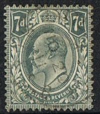 GB SG249 1910 Definitive 7d fine used